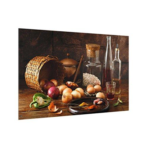 Bilderwelten Spritzschutz Glas - Düfte beim Kochen - Quer 2:3, HxB: 40cm x 60cm