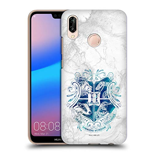 Head Case Designs Officiel Harry Potter Hogwarts Aguamenti Deathly Hallows IX Coque Dure pour l'arrière Compatible avec Huawei P20 Lite