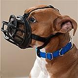 JWPC Muselières réglables en caoutchouc de silicone respirant pour chien – Muselières de sécurité pour chiot, chiot, mordre, aboiement, mastication, noir 2