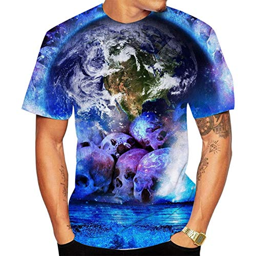 SSBZYES Camiseta para Hombre Camiseta De Verano De Manga Corta para Hombre Camiseta De Cuello Redondo para Hombre Camiseta con Estampado De Calavera para Hombre Camiseta De Gran Tamaño para