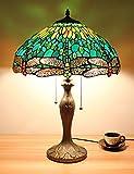 16 pulgadas verde libélula joyería estilo minimalista pastoral lámpara de mesa lámpara de noche lámpara de escritorio salón lámpara de la barra