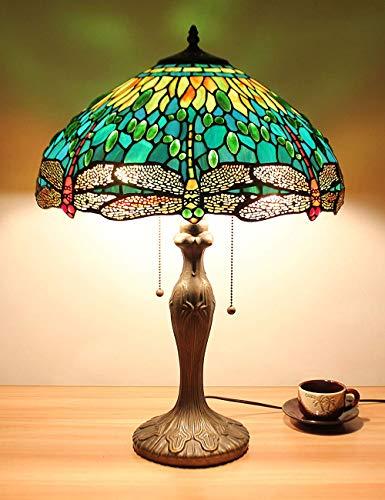 16 pouce Vert Libellule Bijoux Pastorale Style Minimaliste Lampe De Table Lampe De Chevet Lampe De Bureau Lampe Salon Bar Lampe Sold only in'Edward Elric UK'