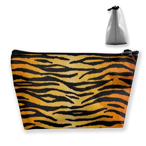 Make-Up Cosmetic Tote Bag Carry Case Portable Travel Makeup Case Pouch Toiletry Wash Organizer Animal Print Tige