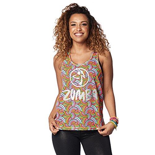 Zumba Dance Fitness Atmungsaktive Tank Workout Racerback Sportkleidung Damen, Coral Craze, L