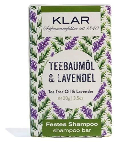 Klar Seifen festes Shampoo Teebaumöl & Lavendel, 100 g