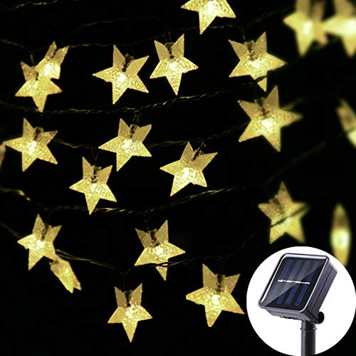Viewpick Outdoor Solar Garden Star String Lights Solar...