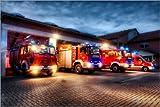 Poster 30 x 20 cm: Feuerwehrfahrzeuge von Markus Will -