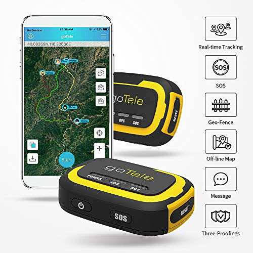 goTele GPS Tracker, No Monthly Fee No Network Required Mini Portable...