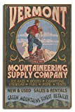 Lantern Press Vermont - Mountaineering Supply Company (10x15 Wood Wall Sign, Wall Decor Ready to Hang)