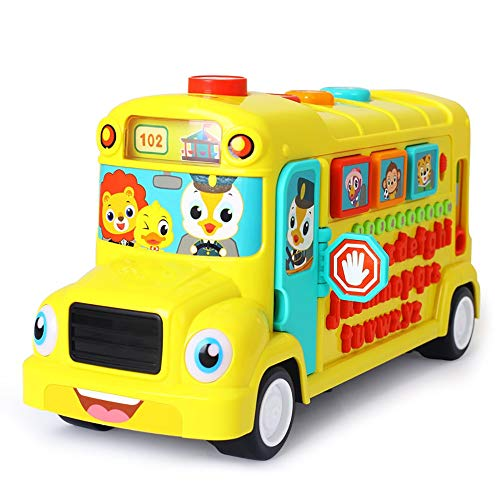 Review Of Toddlers, Toy for Boys and Girls Children's Educational Toys Learning School Bus Alphabet ...