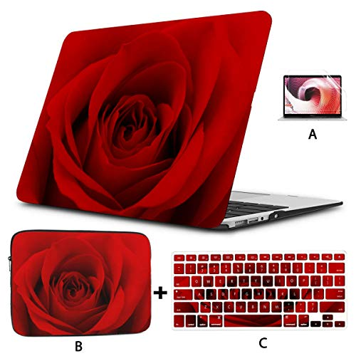 Macbook Pro13 Inch Case Close Up Photo Of Red Rose Flower 128910530 Laptop Shell Hard Shell Mac Air 11'/13' Pro 13'/15'/16' With Notebook Sleeve Bag For Macbook 2008-2020 Version