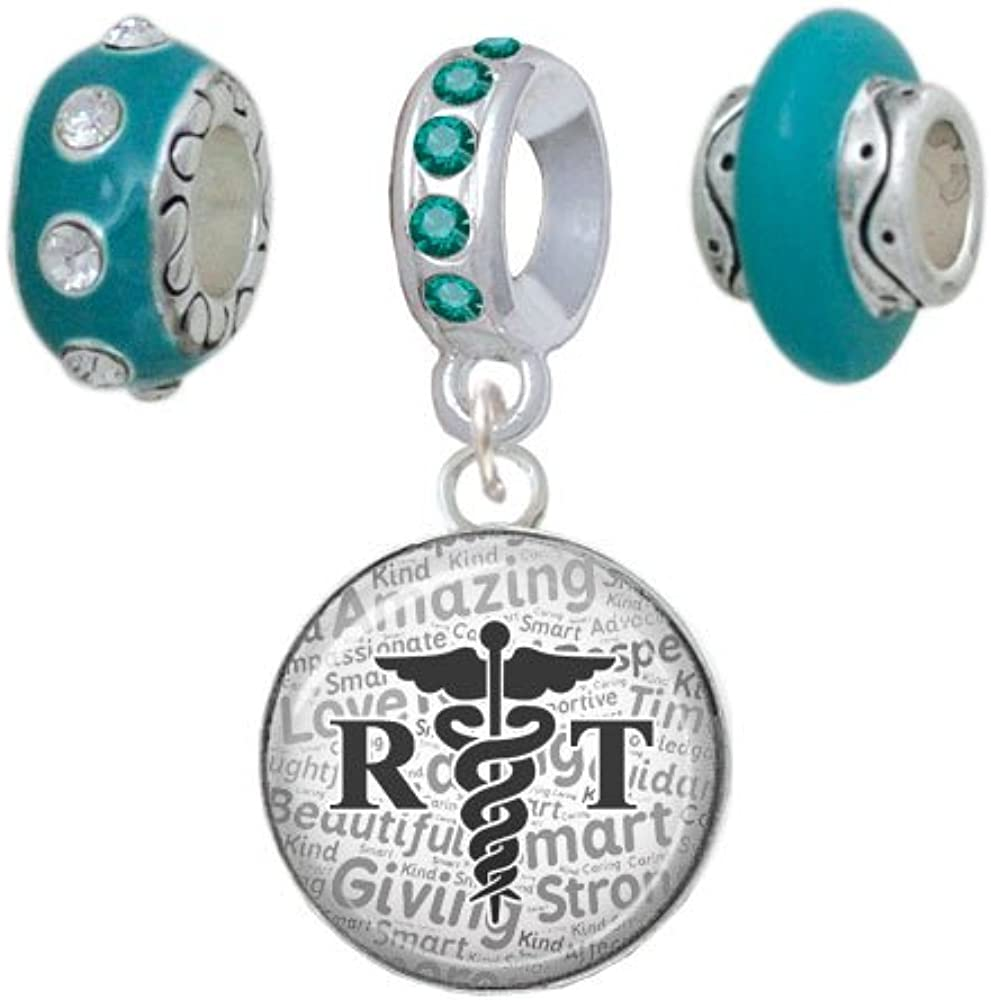 Silvertone Domed Popular brand in the world Black RT Teal Charm Beads Set Very popular of 3