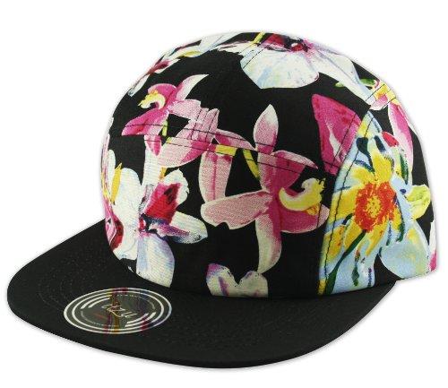 Itzu - Casquette de Baseball - - À fleurs Homme Noir Noir