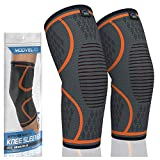 MODVEL 2 Pack Knee Compression Sleeve | FDA Approved Knee Brace | Knee Support for Arthritis, ACL, Meniscus Tear,...