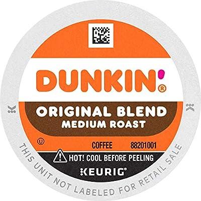 Dunkin' Original Blend Medium Roast Coffee, 60 K Cups for Keurig Coffee Makers (Packaging May Vary)