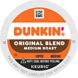 Dunkin' Original Blend Medium Roast Coffee, 60 K Cups for Keurig Coffee Makers (Packaging May Vary)