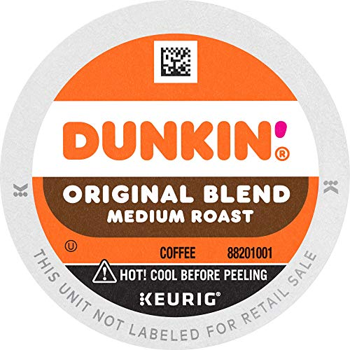 Dunkin' Donuts Original Blend Medium Roast Coffee, 60 K Cups for Keurig Brewers