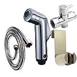 YLCJ Ducha de baño Ducha de Mano Pistola de pulverización para Inodoro Inodoro de baño Bidé Generador de hidrógeno Inodoro de Agua Bidet Spray, 4