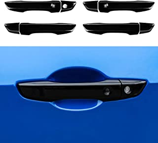 Thenice for 10th gen Civic ABS Door Handle Cover Exterior Decoration for Honda Civic 2016 2017 2018 2019 2020 With Keyless Holes -Black