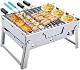 🍁 【Best Outdoor Grill】This easy-to-carry grill is suitable for outdoor barbecues, family gatherings and outdoor parties. It is suitable for charcoal and wood fuel. It can make you feel the most original t【Best Outdoor Grill】This easy-to-carry grill i...