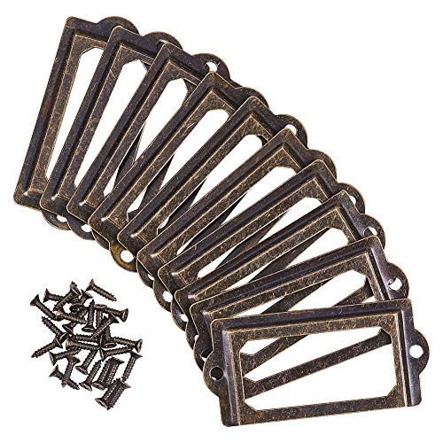 INCREWAY - Cajón para tarjetero de 35 piezas, marcos de etiquetas de extracción
