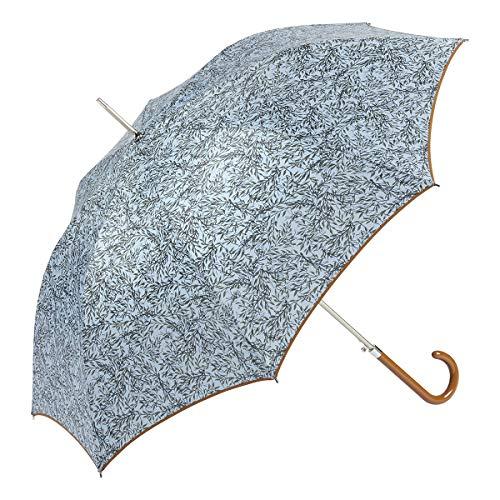 EZPELETA Paraguas Largo antiviento de Mujer|Automático|Estampado flores (Azul)