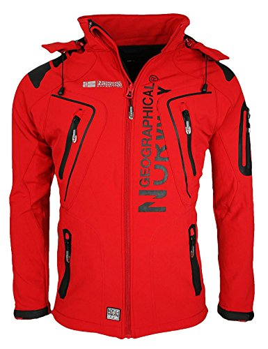 Geographical Norway Tambour Men's Softshell Jacket, Men, GeNo 5 R S, red, S