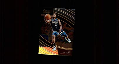 2018-19 Select Basketball #202 Jeff Teague Minnesota Timberwolves Courtside Official NBA Trading Card (made by Panini, Scan streaks are not on card)