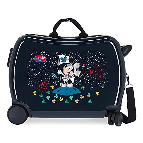 Disney Mickey Mickey on The Moon Maleta Infantil Azul 50x38x20 cms Rígida ABS Cierre de combinación Lateral 34 1,8 kgs 4 Ruedas Equipaje de Mano