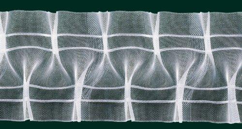Ruther & Einenkel Schlaufen-Smokband, 95 mm, volltransparent, 200% / Aufmachung 10 m