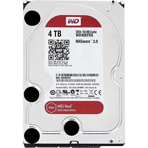 WD Red 4TB interne Festplatte SATA 6Gb/s 64MB interner Speicher (Cache) 8,9 cm 3,5 Zoll 24x7 5400Rpm optimiert für SOHO NAS Systeme 1-8 Bay HDD Bulk WD40EFRX(Generalüberholt)