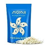 Hard Wax Beans Eyebrow Wax Hair Removal AVAII Waxing Beads Large Refill Bag Pearl Wax for Face, Brows, Upper Lips, Chin - Thin Fine Facial Hair, 453g / 1.1lb.