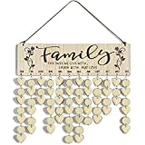 Cocomong Family Birthday Reminder Calendar Board Wall Hanging, Gifts for Mom and Dad, Decorative Birthday...