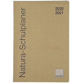 10752 TimeTex Natura-Schulplaner A4-Plus mit Karton-Cover Schuljahr 2019-2020 Lehrerkalender Lehrertimer