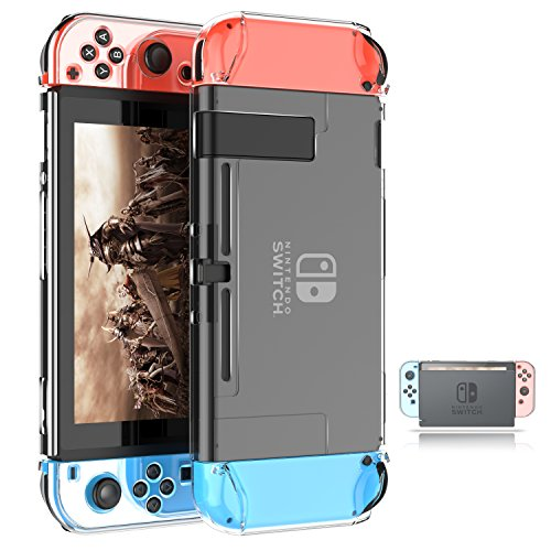 Dockable Switch Case for Nintendo,ZIIDII Nintendo Switch Games Protective Hard Carrying Clear Cover Case for Nintendo Switch Console Joy Con Controlle