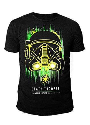Star Wars - Krieg der Sterne Herren T-Shirt - Neon Trooper (Schwarz) (S-XL) (M)