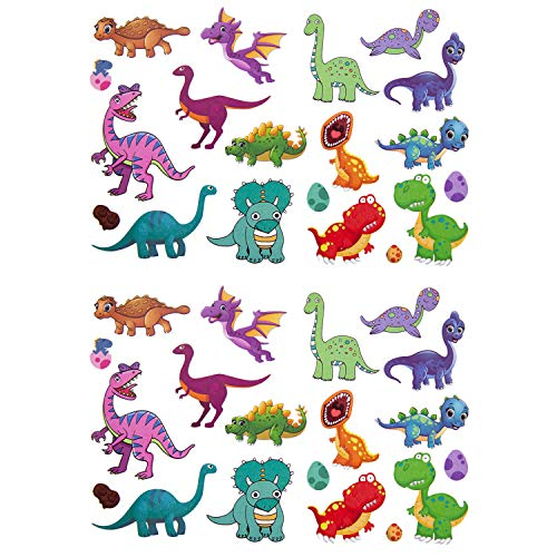 Oblique Unique® Kinder Dino Tattoos 38 Stück Farbenfroh Temporär Dinosaurier Tattoo zum Spielen Spielspass für Jungs zum Kindergeburtstag