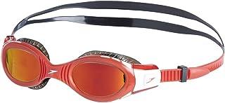 comprar comparacion Speedo Futura Biofuse Flexiseal Mirror Junior Gafas de natación, Unisex niños, Negro/Rojo Lava/Dorado Anaranjado, One Size