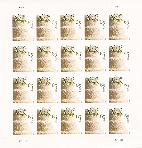 Wedding Cake Sheet of 20 X 65 Cent Stamps Scott 4602 By USPS