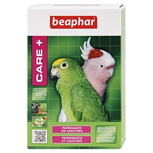 BEAPHAR – CARE+ – Alimentation Super Premium extrudée, équilibrée pour perroquet et cacatoès – 97% d'ingrédients biologiques – Nutriments naturels préservés – Répond aux besoins des oiseaux – 1kg