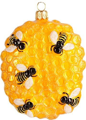 PPH \'IMP\' Christbaumschmuck Figuren Honigwabe Bienenwabe 9.5 cm Essen Christbaumschmuck Figuren Essen Christbaumkugeln Weihnachtskugeln Weihnachts-Baumschmuck Baumkugeln Deko