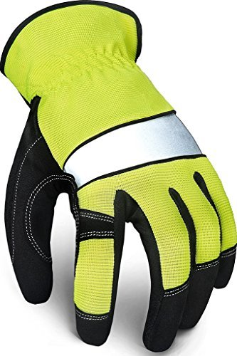 Touch Screen Utility Gloves- Firm Grip Spandex Tool Gloves- Premium All-Purpose Gloves- High Visibility Reflective Men's & Women's Knuckle Tactical Gloves- Safety In Work-Military-Garden-Farm