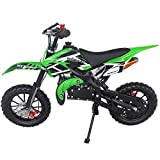 SYX MOTO Kids Dirt Bike Holeshot 50cc Gas Power Mini Dirt Bike 23inches Seat Height Dirt Off Road Motorcycle, Pit Bike Fully Automatic Transmission (Green 2021, Year 2021)