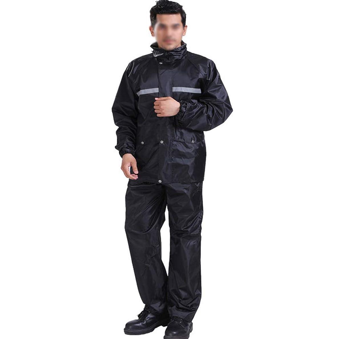 フルーツサラミフェデレーションオートバイ乗馬屋外労働保険オックスフォード布PVCスプリット反射レインコートレインパンツスーツ,XXXL