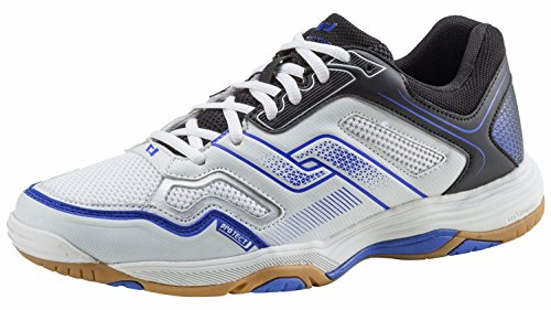 Pro Touch Indoor-Schuh Rebel M, Herren Multisport Indoor Schuhe, Schwarz (Black/White/Blue 000), 44 EU (9.5 UK)