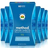 Contains (6) boxes of 80 fabric softener sheets. Naturally derived static control. Biodegradable formula reduces static cling. Softens your fabrics and leaves a fresh scent. Compostable dryer sheets in a 100% recycled and recyclable box.