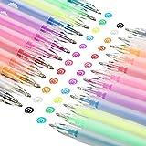 24 Pieces 3D DIY Painting Jelly Pen Set 12 Colors Self Outline Watercolor Gel Ink Pens DIY Fluorescent Painting Pen for DIY Album Card Scrapbooks Writing Drawing
