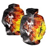 Jordan Bulls Men's Phoodie Jersey、エアヨルダン#23バスケットボール3Dプリントプルオーバースウェットシャツ長袖セーターを維持する(S-6XL) 2XL