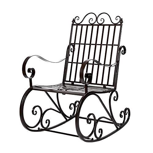 Antiker Eisen Schaukelstuhl, Patio Veranda Sitz Für Garten Garten Gartenmöbel Premium Komfortable Schaukel Lounge Balkon Stuhl