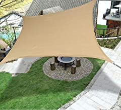 Idea Shade Solutions - used over a patio,lawn,garden,pool,deck,backyard,carport or other outdoor area to provide sunshade and block up to 98% harmful UV rays, keep you cool and health in summer High Quality Material - 100% New 185 gsm high density po...